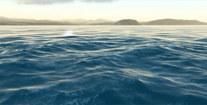 FFT-powered waves in the Triton Ocean SDK.