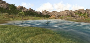 Coastal blending of water with terrain in Triton for Unity.